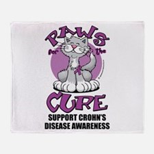 Paws For The Cure Crohn's Dis Throw Blanket