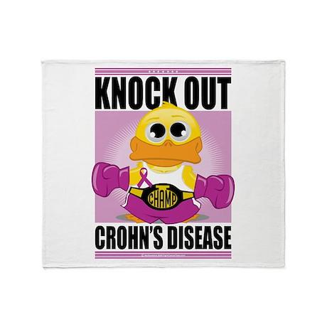 Knock Out Crohn's Disease Throw Blanket