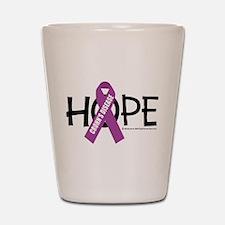 Crohn's Disease Hope Shot Glass