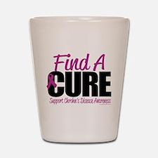 Crohn's Disease Find A Cure Shot Glass