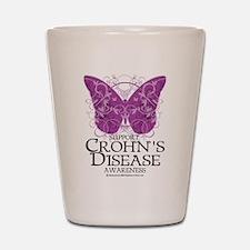 Crohn's Disease Butterfly Shot Glass