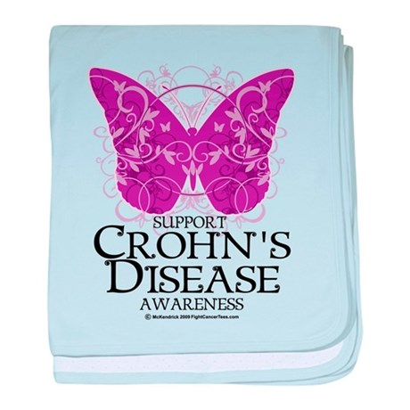 Crohn's Disease Butterfly baby blanket