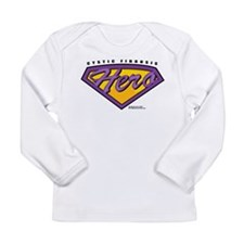 Cystic-Fibrosis Super Hero Long Sleeve Infant T-Sh
