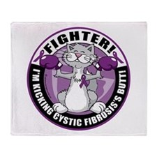 Cystic-Fibrosis Cat Fighter Throw Blanket