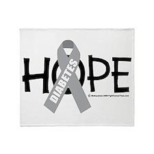 Diabetes Hope Throw Blanket