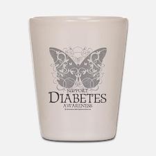 Diabetes Butterfly Shot Glass