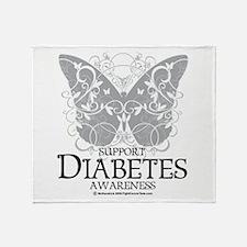 Diabetes Butterfly Throw Blanket