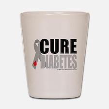 Cure Diabetes Shot Glass