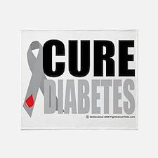 Cure Diabetes Throw Blanket