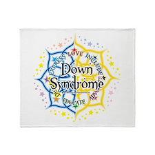 Down Syndrome Lotus Throw Blanket