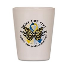 Down Syndrome Tribal Butterfl Shot Glass
