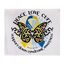 Down Syndrome Tribal Butterfl Throw Blanket