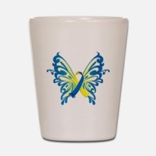 Down Syndrome Butterfly Shot Glass