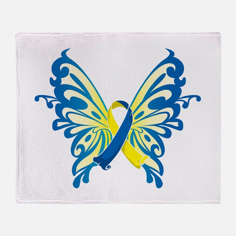 Down Syndrome Butterfly Throw Blanket