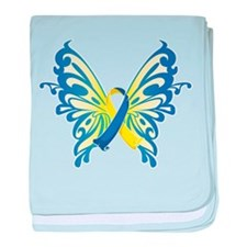 Down Syndrome Butterfly baby blanket