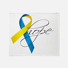 Down Syndrome Ribbon Hope Throw Blanket