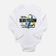 Blue & Yellow for Son Long Sleeve Infant Bodysuit