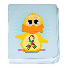 Autism Duck baby blanket