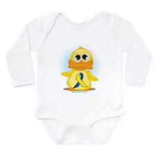 D.S. Ribbon Duck Long Sleeve Infant Bodysuit