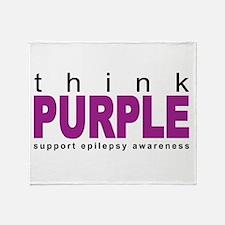 Think Purple: Epilepsy Throw Blanket