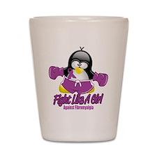 Fibromyalgia Fighting Penguin Shot Glass