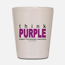 Think Purple Fibromyalgia Shot Glass