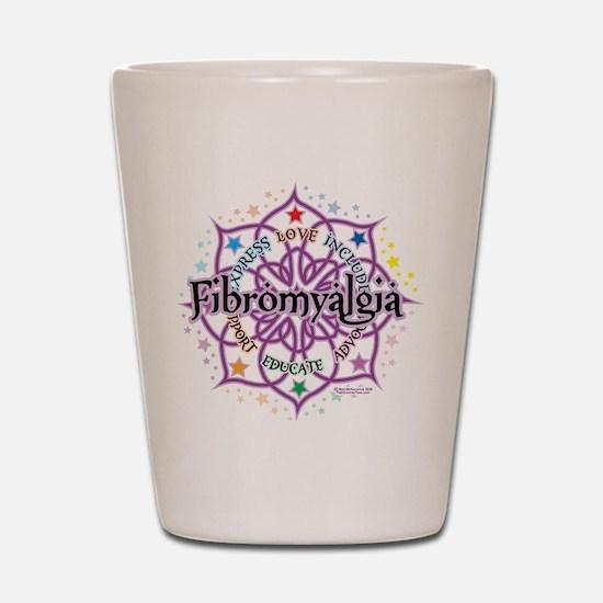 Fibromyalgia Lotus Shot Glass