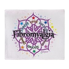 Fibromyalgia Lotus Throw Blanket