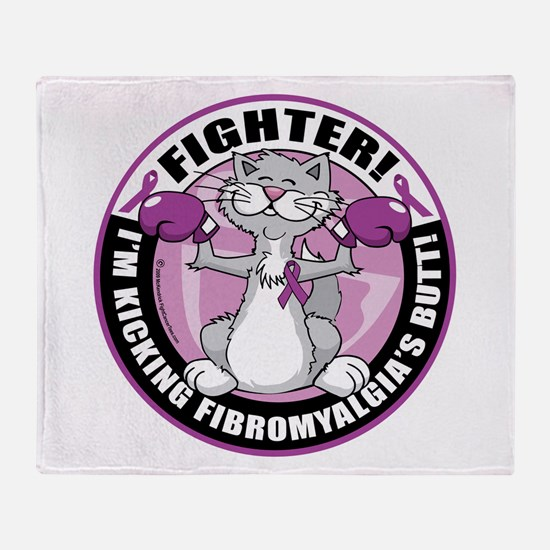 Fibromyalgia Cat Fighter Throw Blanket