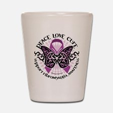 Fibromyalgia Butterfly Tribal Shot Glass
