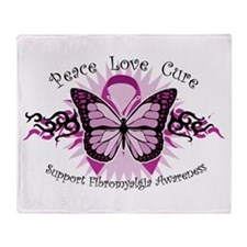 Fibromyalgia Butterfly Throw Blanket