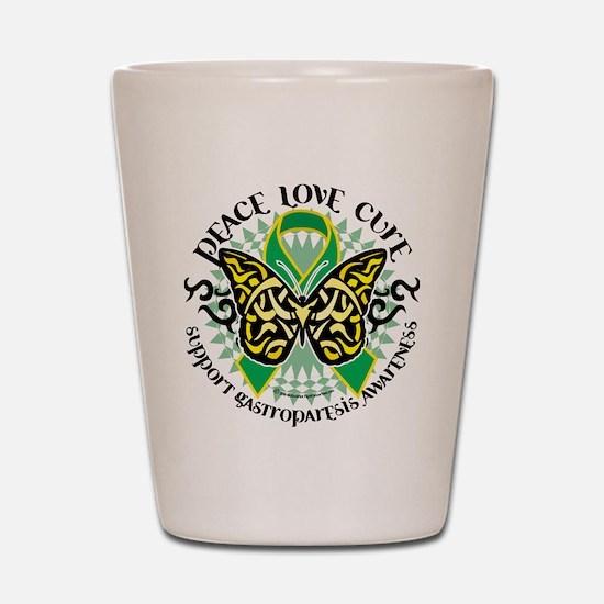 Gastroparesis Tribal Butterfl Shot Glass