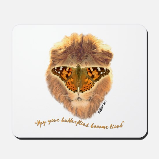 Butterfly/lion Mousepad