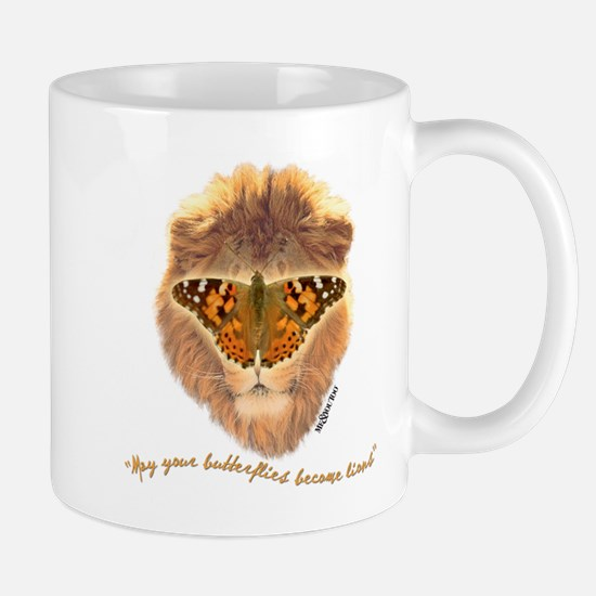 Butterfly/lion Mug