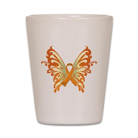 Leukemia Butterfly Shot Glass