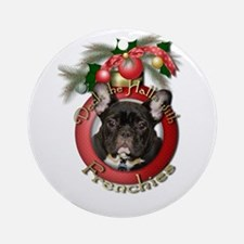Christmas - Deck the Halls - Frenchies Ornament (R