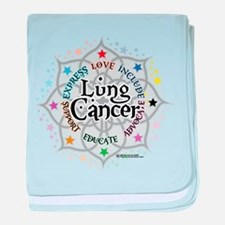 Lung Cancer Lotus baby blanket