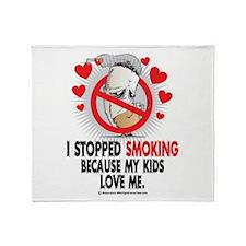 Stopped Smoking Kids Throw Blanket