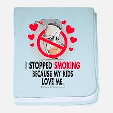 Stopped Smoking Kids baby blanket