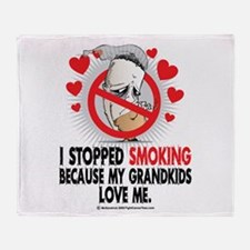 Stopped Smoking Grandkids Throw Blanket