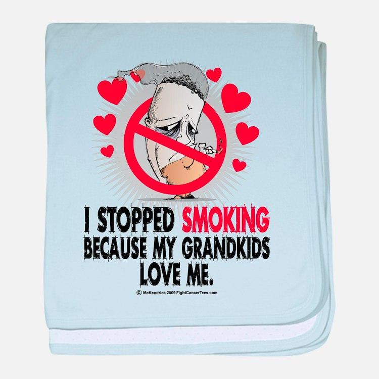 Stopped Smoking Grandkids baby blanket