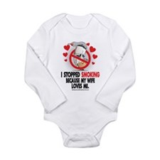 Stopped Smoking Wife Long Sleeve Infant Bodysuit