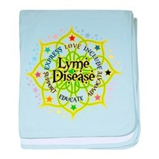Lyme Disease Lotus baby blanket