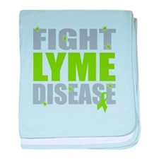 Fight Lyme Disease baby blanket