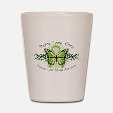 Lyme Disease Butterfly Shot Glass