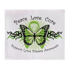 Lyme Disease Butterfly Throw Blanket