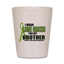 LD: Lime Green For Brother Shot Glass