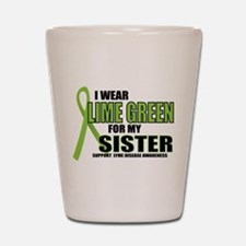 LD: Lime Green For Sister Shot Glass