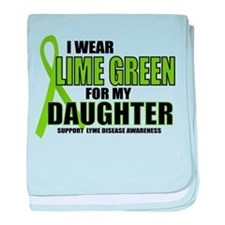 LD: Lime Green For Daughter baby blanket