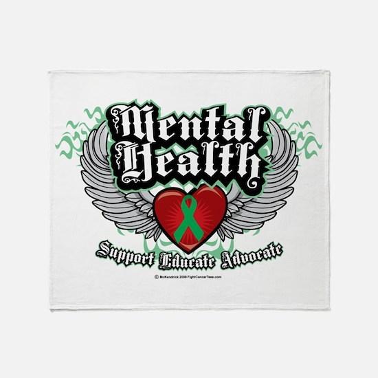 Mental Health Wings Throw Blanket